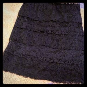 Forever 21 lace tiered skirt